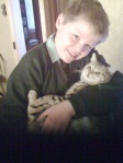 My son and his cat